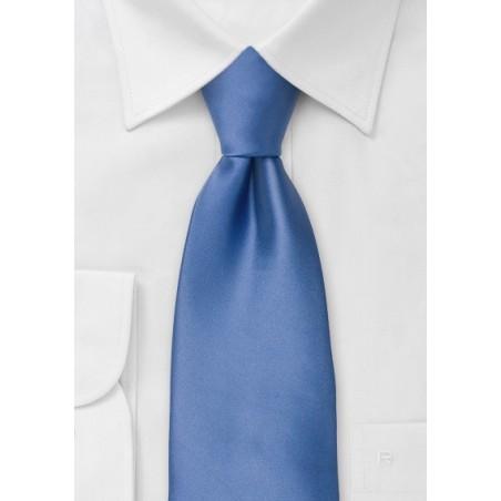 Clip-on ties - Solid blue clip on tie