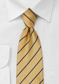 0dd3697348c9 Striped men's ties - Yellow and blue necktie