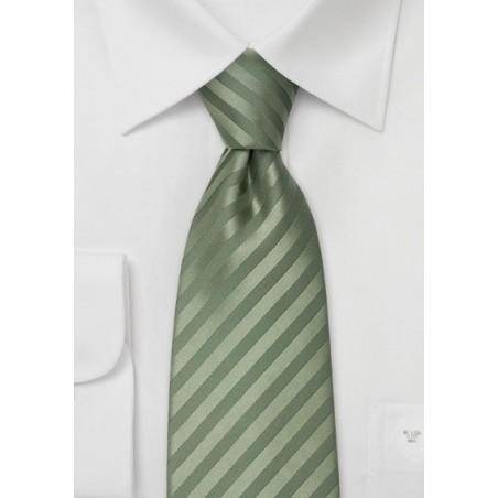 XL Mens Tie in Dark Sage Green