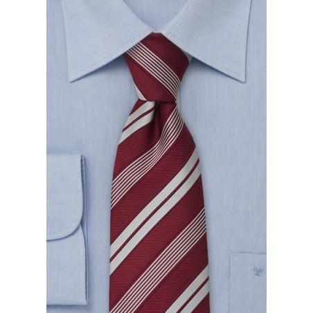 XL Mens neckties - Modern striped XL necktie