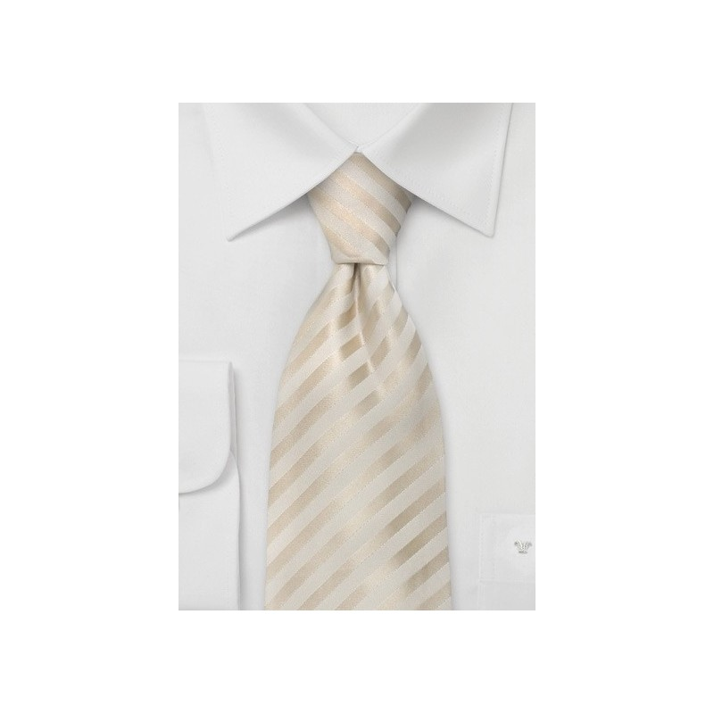 Formal Extra Long Ties - Ivory Color XL Necktie