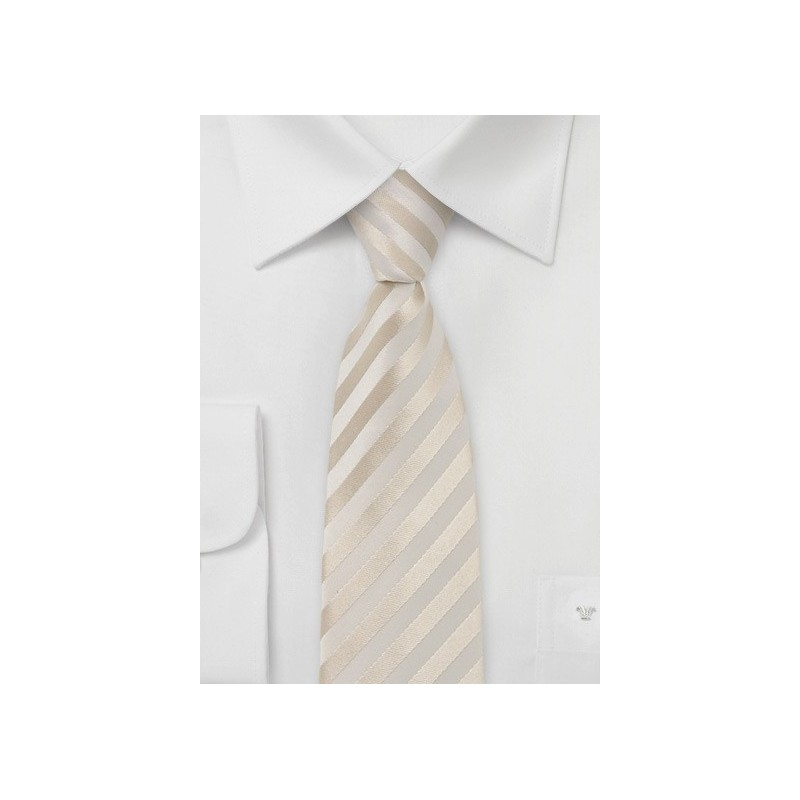 Modern Skinny Ties - Cream colored narrow tie