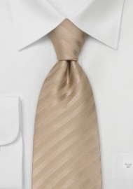 Solid Color Extra Long Ties - XL Mens Necktie in Tan-Brown