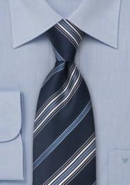 Blue Italian Designer Silk Tie by Cavallieri