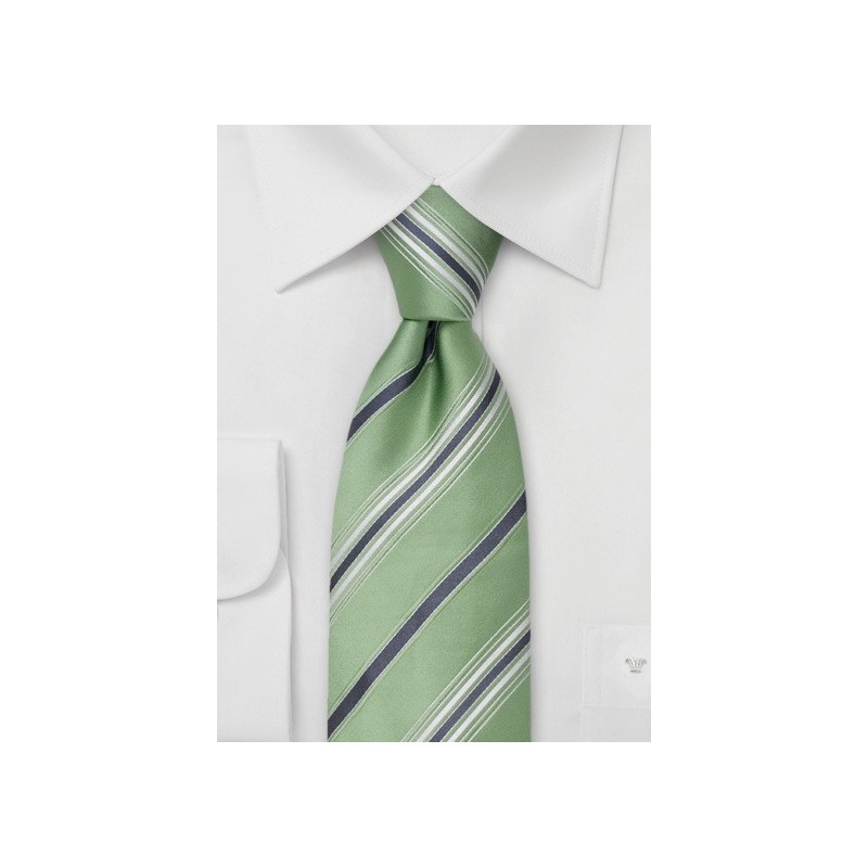 Mint Green Silk Ties - Green Designer Tie by Cavallieri