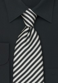 """Extra Long Mens Silk Ties - Striped Tie """"Signals"""" by Parsley"""