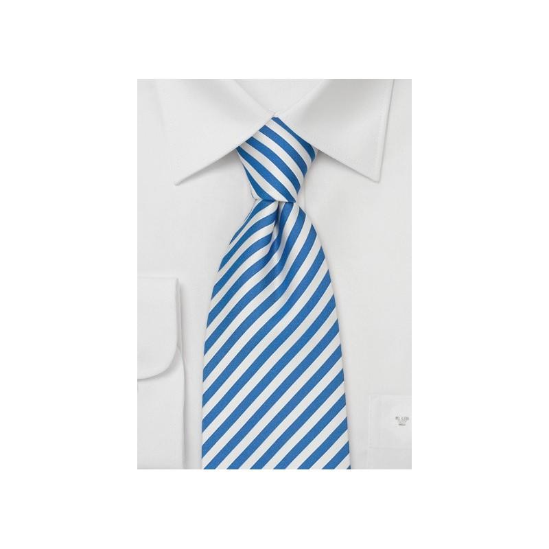 Kids Ties - Royal Blue & White Kids Tie