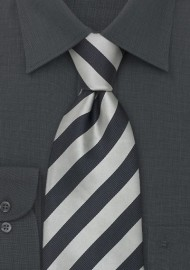 "Striped Extra Long Silk Ties - Striped Tie ""Identity"" by Parsley"