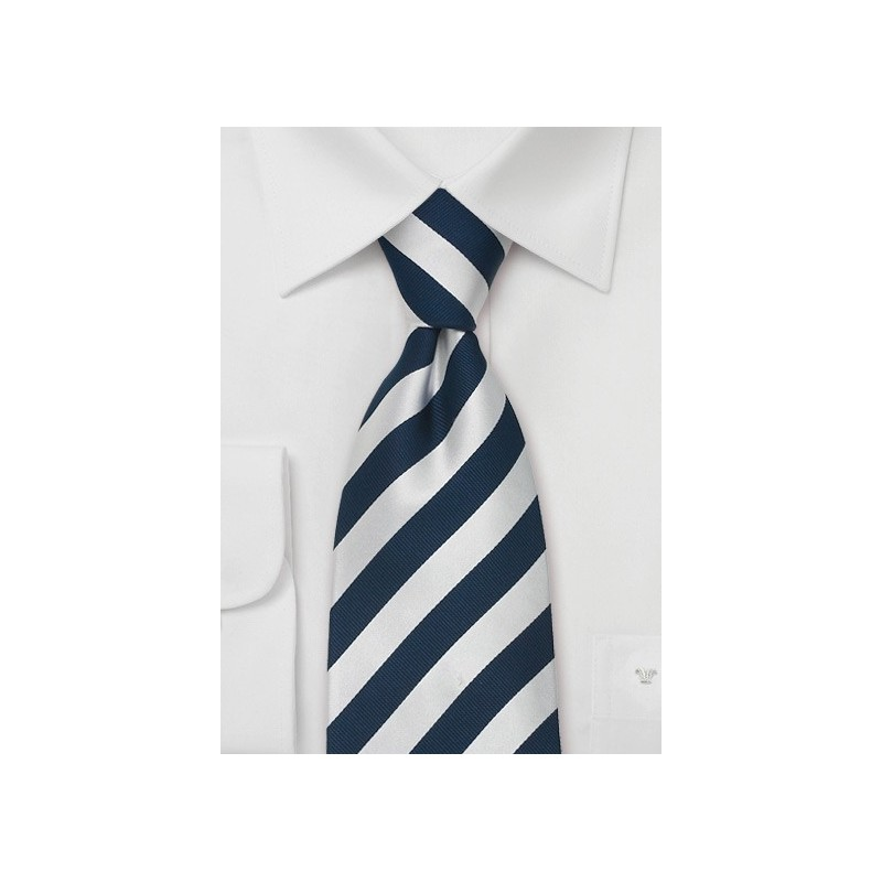 "Blue Striped Extra Long Ties - Striped Necktie ""Identity"" by Parsley"
