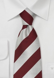 "Extra Long Neckties - Striped Tie ""Lighthouse"" by Parsley"