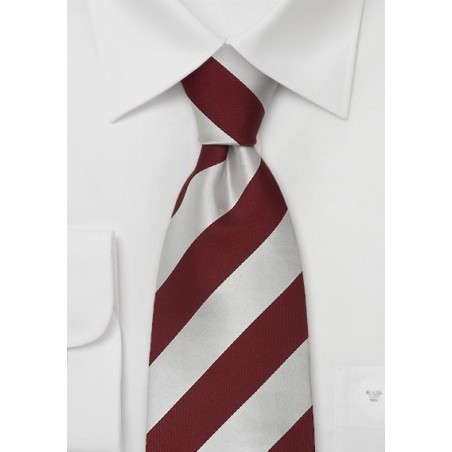 """Extra Long Neckties - Striped Tie """"Lighthouse"""" by Parsley"""