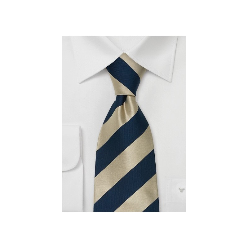 "Extra Long Silk Ties - Striped Tie ""Lighthouse"" by Parsley"