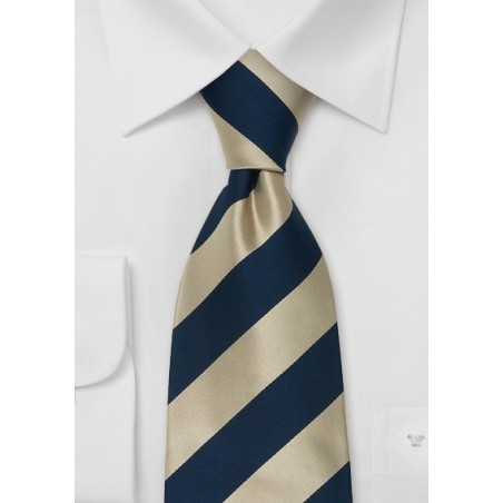 """Extra Long Silk Ties - Striped Tie """"Lighthouse"""" by Parsley"""