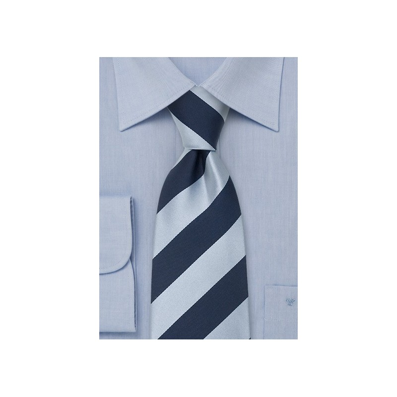 "Blue Extra Long Neckties - Striped Tie ""Lighthouse"" by Parsley"