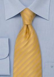 Yellow Neckties - Golden Yellow Silk Tie