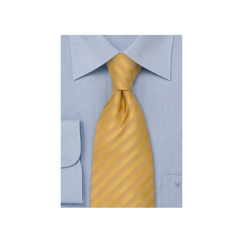 Yellow Extra Long Ties - Yellow Silk Tie in XL Length