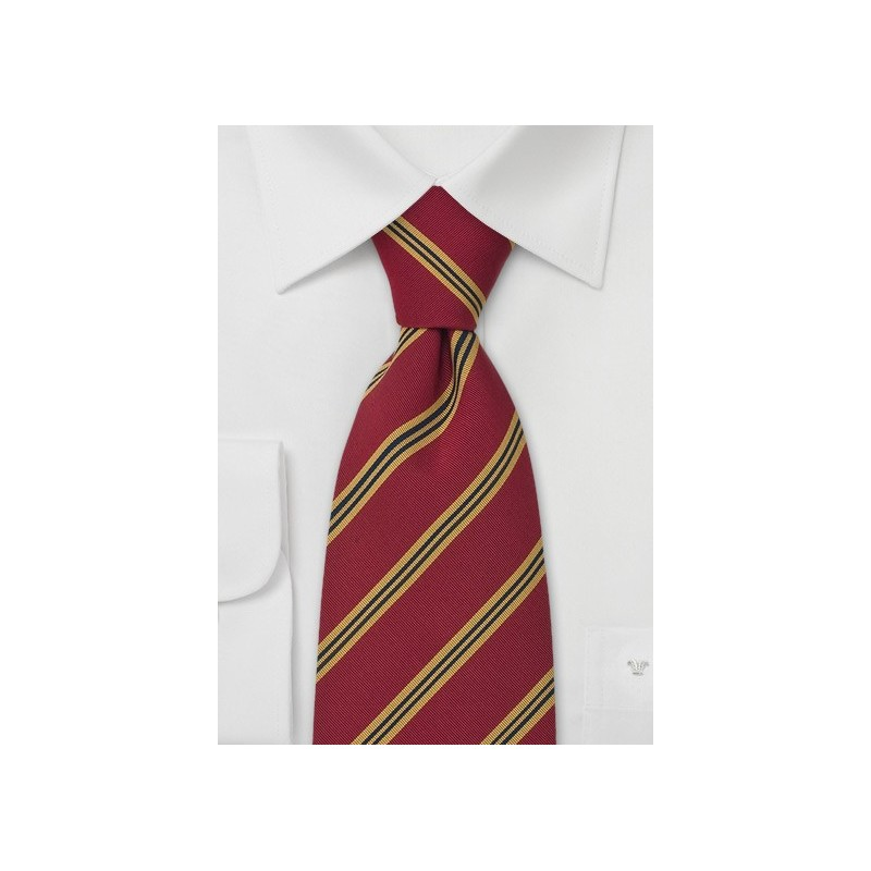 "Red British XL Neckties - Regimental Tie ""Sussex"" by Parsley"