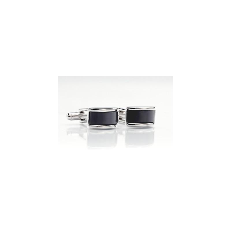 Black Cufflinks - Precious Stone Cufflinks