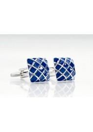 Blue Cufflinks - Designer cufflinks by Mont Pellier