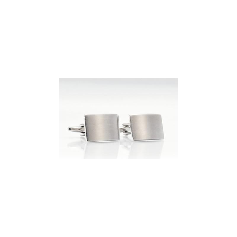 Modern Cufflinks - Brished Steel Cufflinks by Mont Pellier
