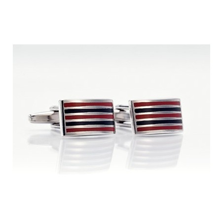Trendy cufflinks - Cufflinks with Red and Black
