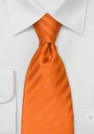Orange Neckties - Bright Orange Mens Tie