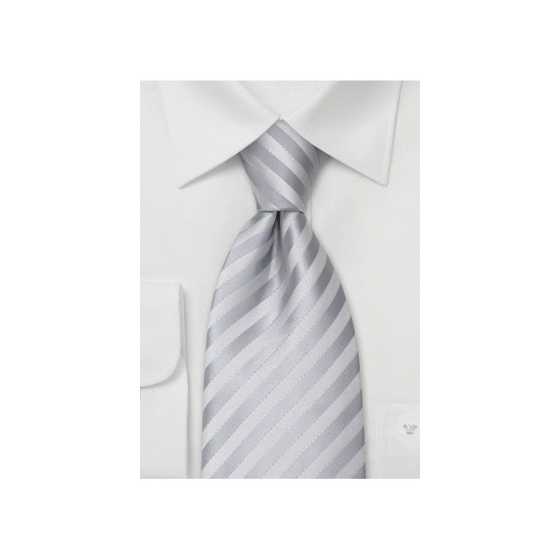 Stain Resistant Neckties - Solid Silver Tie