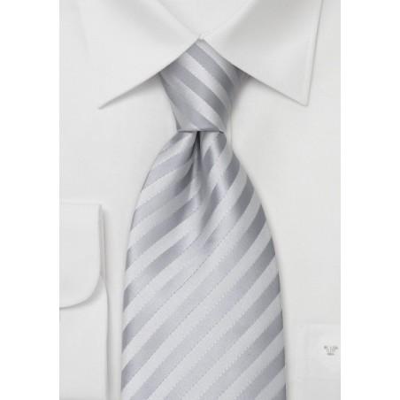 Stain Resistant Neckties - Solid Silver Tie
