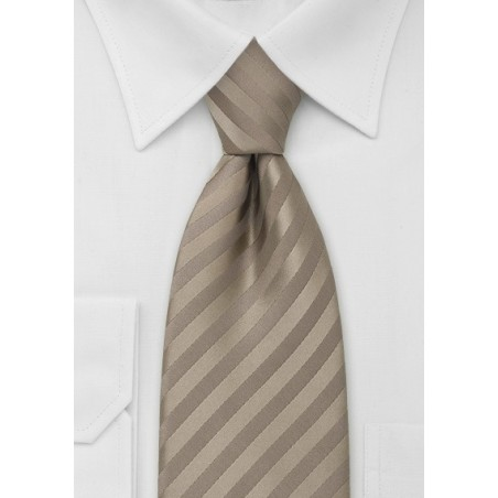 Extra Long Necktie in Golden-Tan