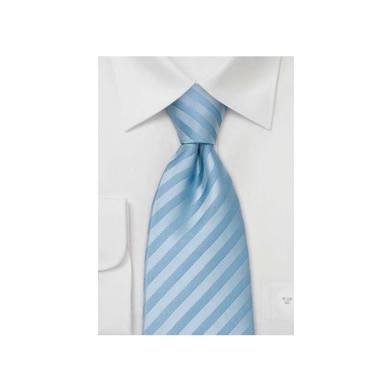 Sky Blue Necktie in Extra Long Size