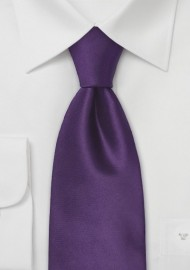 Indigo-Purple Silk Necktie