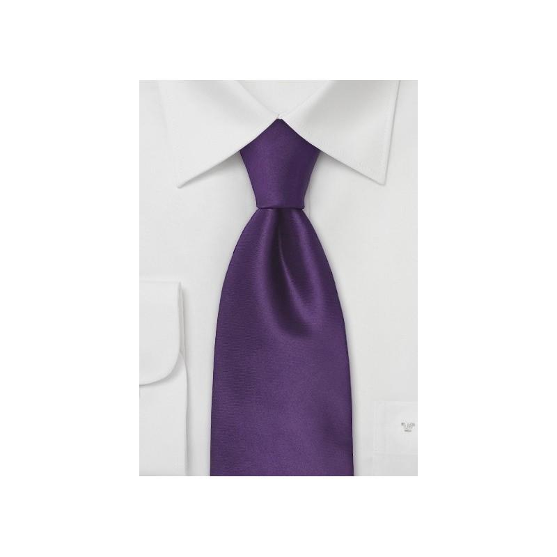 Dark Purple Necktie in XL Length