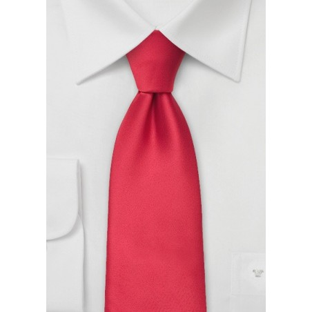 Bright Red Tie in XL
