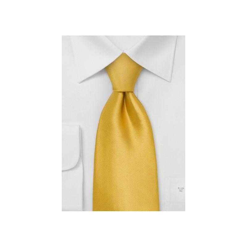Golden-Yellow Silk Tie