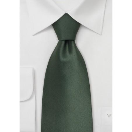 Dark Green Neckties - Solid Hunter Green Silk Tie