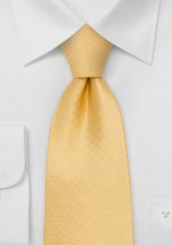 Yellow Designer Necktie - Solid Yellow Necktie by Chevalier
