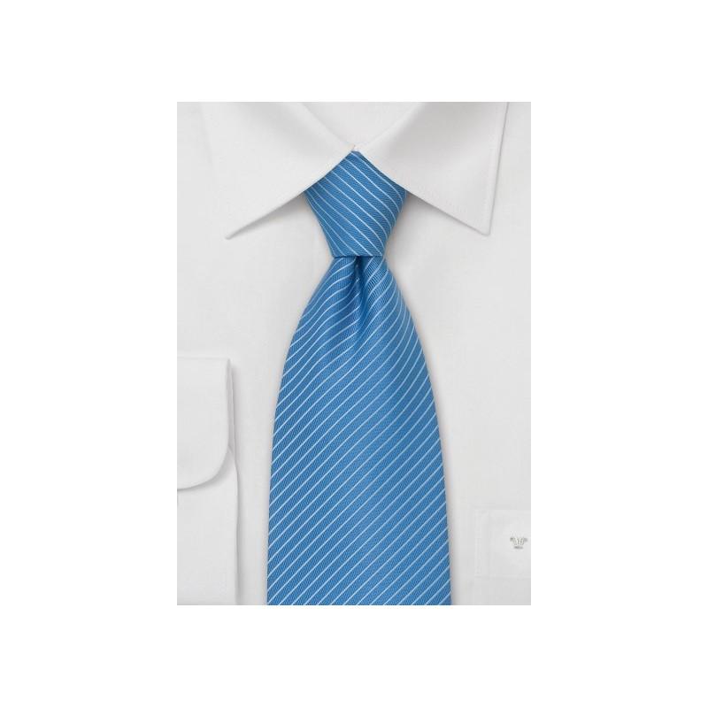 Light Blue Ties - Modern Striped Tie in Cornflower Blue