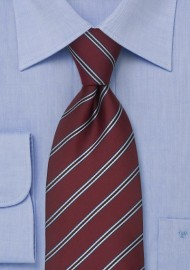 Maroon Neckties - Maroon Color Striped Tie