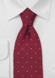 Cardinal Red Polka Dot Tie by Chevalier