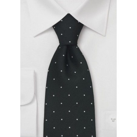 Black Tie by Chevalier With Fine Polka Dots