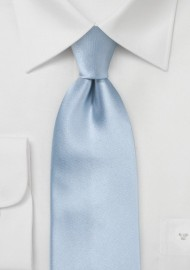 Light Blue Silk Tie in XL Length