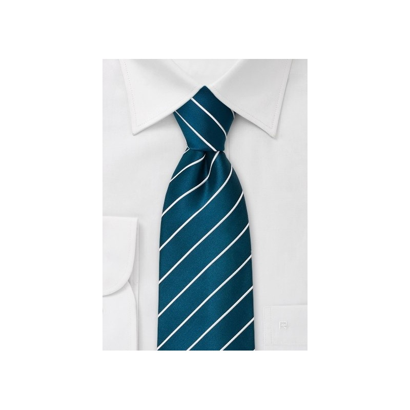 XL Mens Necktie in Turquoise Blue