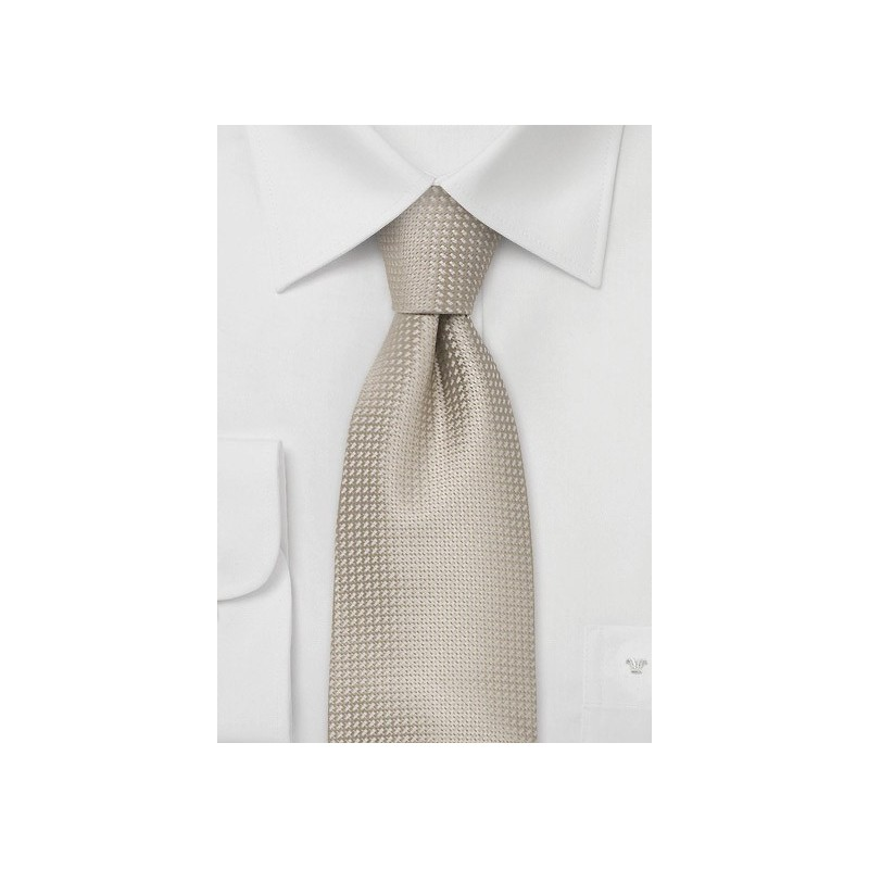 Elegant Summer Tie in What-Tan Color