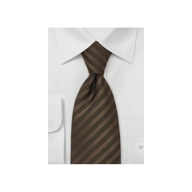 Mens Silk Tie in Chocolate Brown