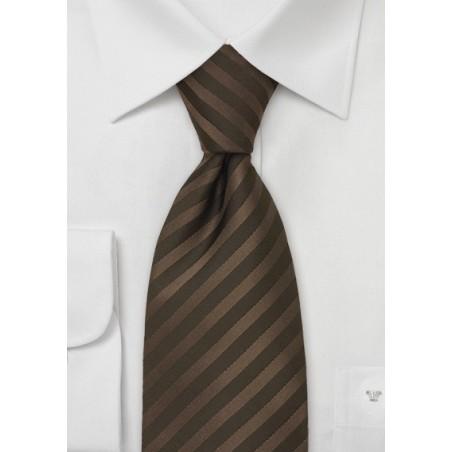 Chocolate Brown Necktie in Extra Long