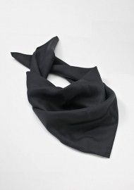 Solid Black Women's Silk Scarf