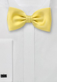 Light Yellow Bow Tie