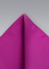 Pocket Square in Dark Fuchsia