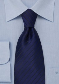 Sapphire Blue and Black Striped Tie