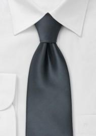 Smoke-Gray Necktie in XL Length